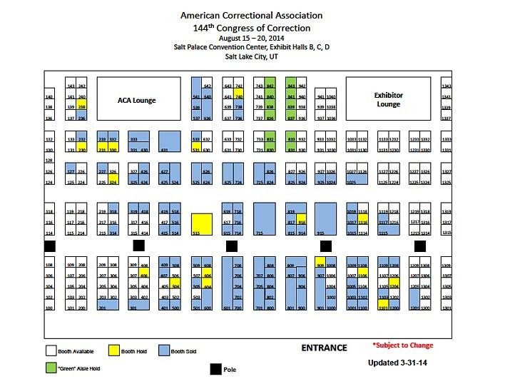 ACA Congress 2014 Booth Map